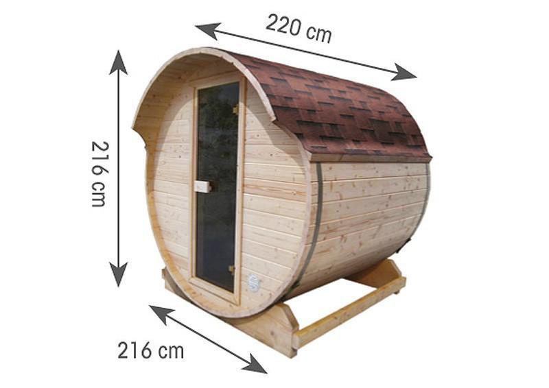 Karibu Fass Sauna 42 mm Fasssauna Ofen 9 kW Bio externe Strg easy  Plug & Play 230Volt Sauna