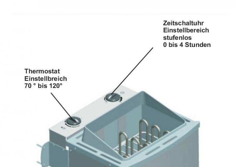 Karibu Saunaofen 9 kW - mit integrierter Steuerung (Kabel A notwendig)