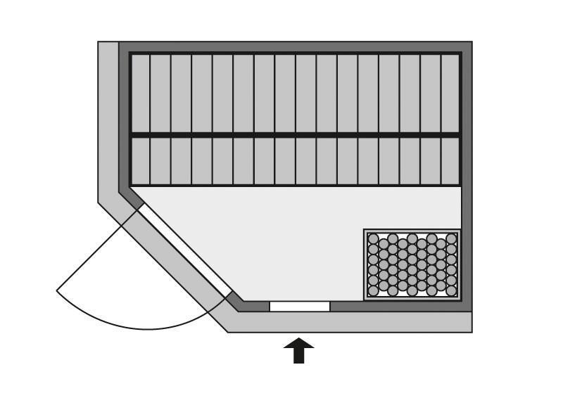 Karibu System Sauna Carin Classic (Eckeinstieg) 68 mm inkl. Ofen 9 kW mit integr. Steuerung