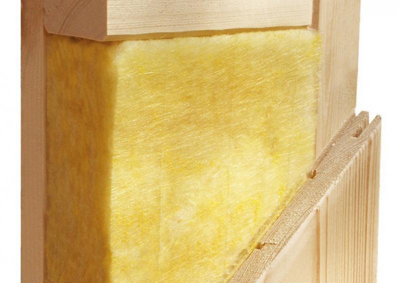 Karibu System Sauna Rodin Classic (Fronteinstieg) 68 mm mit Dachkranz inkl. Ofen 9 KW ext. Steuerung