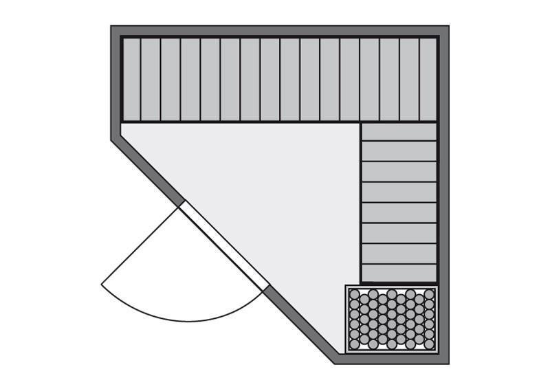 Karibu System Sauna Flora 1 Ganzglas (Fronteinstieg) 68 mm