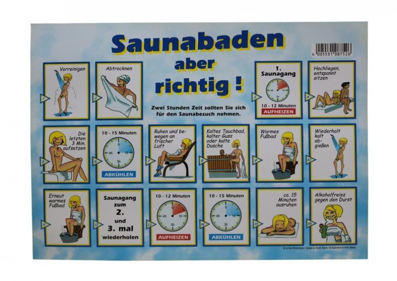 Sauna-Baderegeltafel