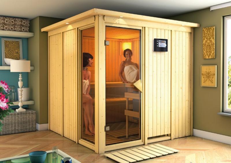 Karibu System Sauna Helin (Fronteinstieg) 68 mm