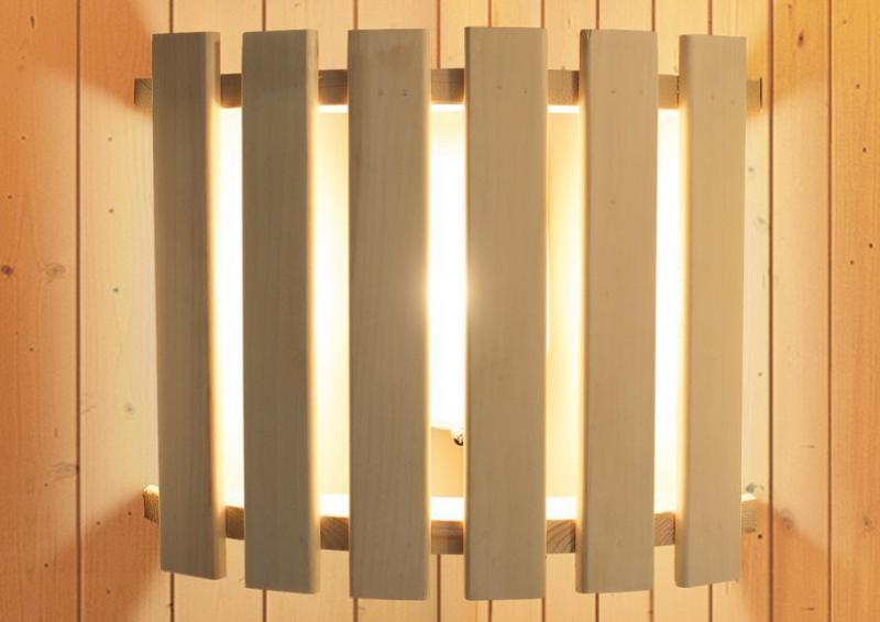 Sonderangebot: Karibu System Sauna Siirin (Eckeinstieg) mit Ofen 9 kW Bio-Kombi
