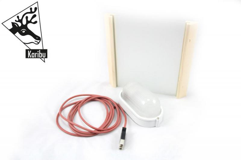 Karibu Leuchte PREMIUM - 230 Volt inkl. Anschlusskabel für Sauna