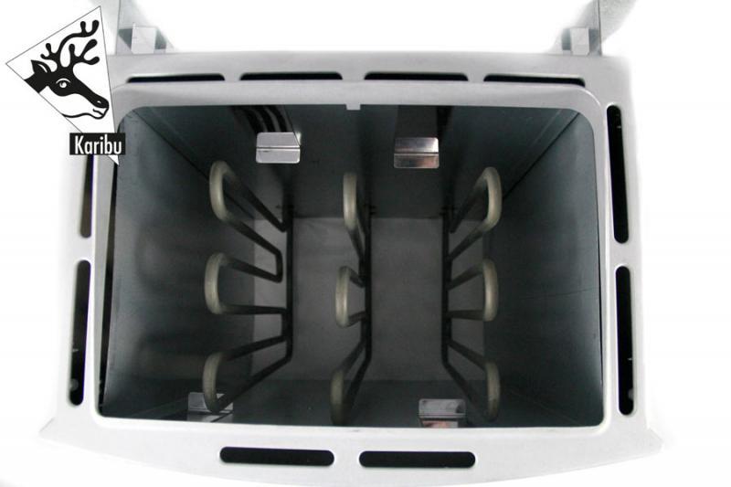 Karibu Ofen 9 kW für ext. Steuerung (Tipp: Kabel A und Kabel B notwendig)