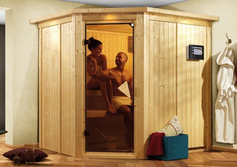 Karibu System Sauna Siirin Classic (Eckeinstieg) 68 mm ohne Zubehör