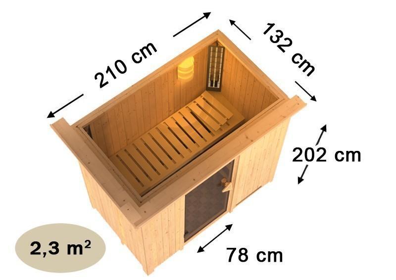 Karibu System Sauna Variado (Fronteinstieg) 68 mm ohne Zubehör