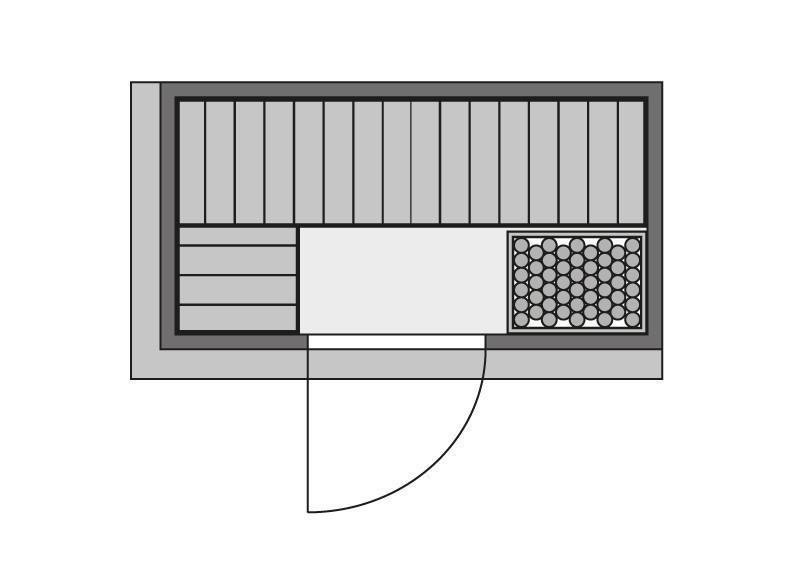 Karibu System Sauna Variado (Fronteinstieg) 68 mm inkl. Ofen 9 kW int. Steuerung