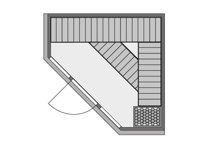 Karibu System Sauna Flora 2 Ganzglas (Fronteinstieg) 68 mm mit Dachkranz