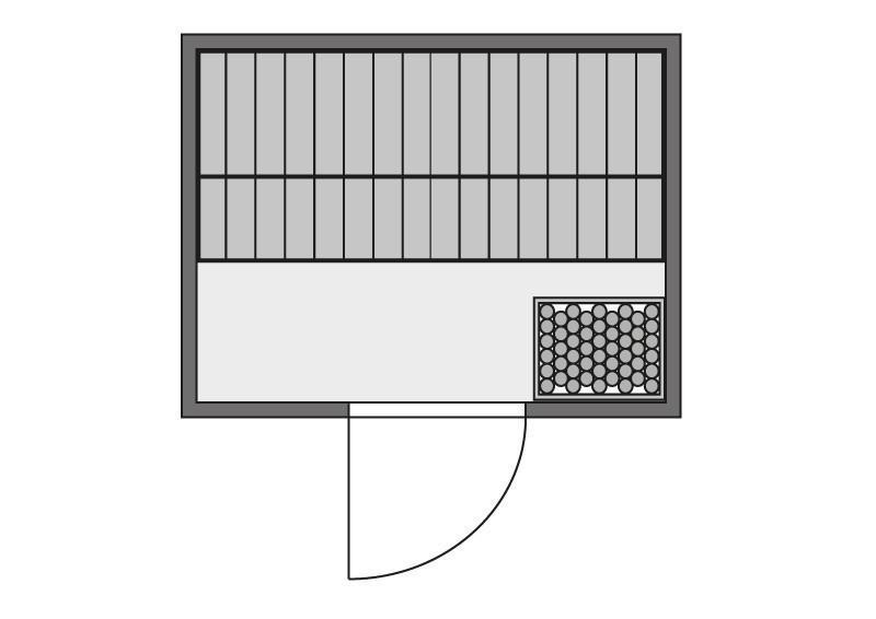 Woodfeeling 38 mm Massiv Sauna Karla Classic (Fronteinstieg) mit Dachkranz und graphitfarbender Ganzglastür