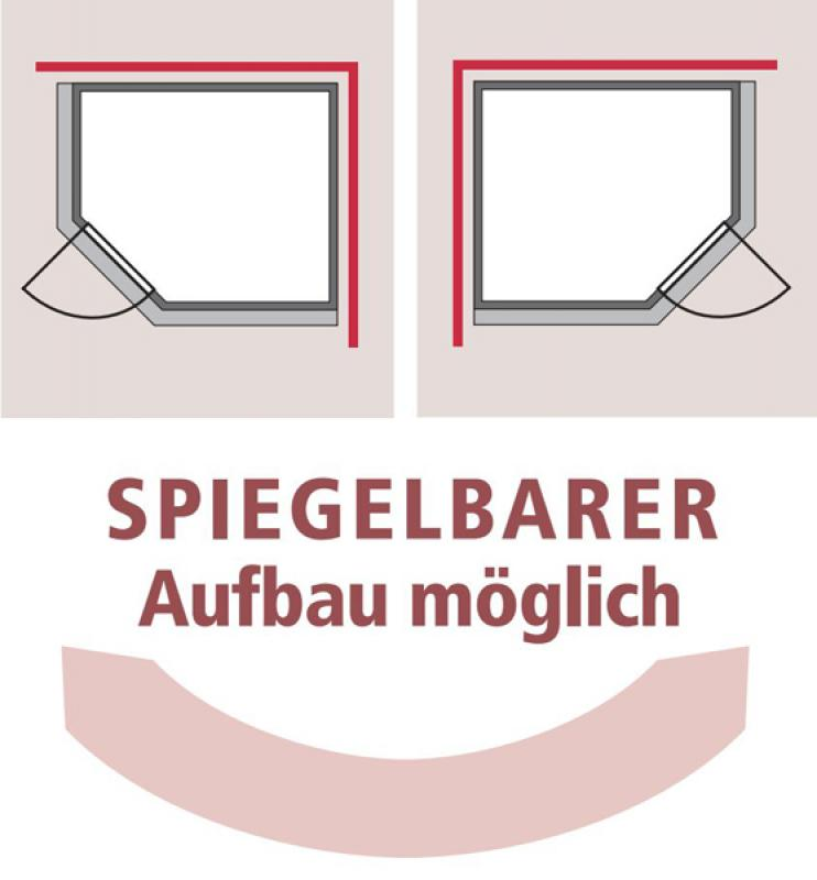 Karibu Heimsauna Siirin (Eckeinstieg) Ofen 9 kW integr. Strg  Kein Kranz 68 mm Systemsauna