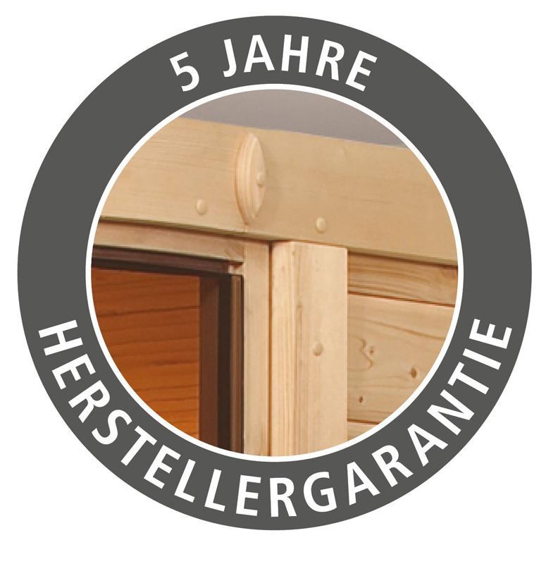Karibu Heimsauna Tonja (Eckeinstieg) Ofen 3,6 kW Bio-Ofen externe Strg. modern mit Dachkranz Plug & Play 230Volt Sauna