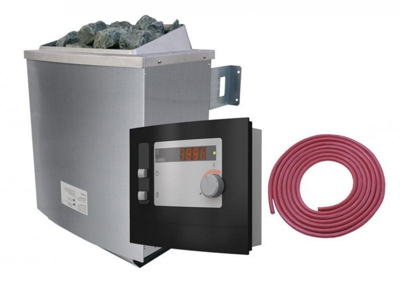 Karibu Ofen 9 kW - inkl. ext. Steuerung Modern und Kabel A + B