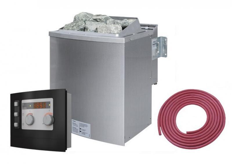 Karibu Bio-Kombiofen 9 kW - inkl. ext. Steuerung Modern und Kabel A + D