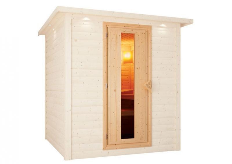 Karibu Sauna Türelement Energiespartür für Sauna Wandstärke für 38 und 40 mm