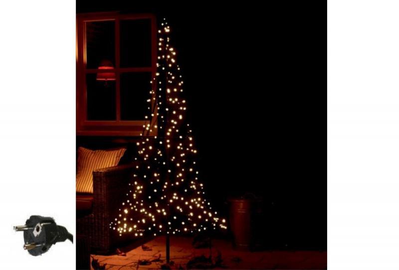 Fairybell LED Weihnachtsbaum außen - christmas tree - Maße 185 x 85 cm - 250 LED-Lampen: warmweiß