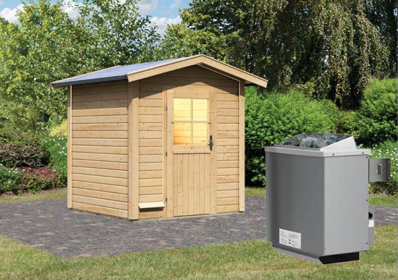 Karibu Gartensauna Lasse inkl. Ofen 9 kW mit integr. Steuerung