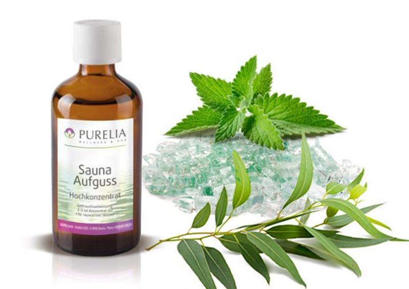 Purelia Aufgusskonzentrat Saunaduft 50 ml Eukalyptus-Menthol