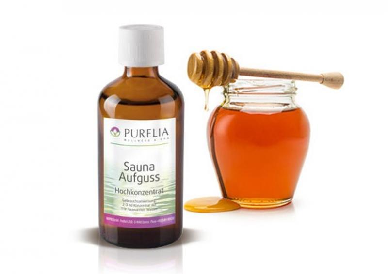 Purelia Aufgusskonzentrat Saunaduft 50 ml Honig Gold