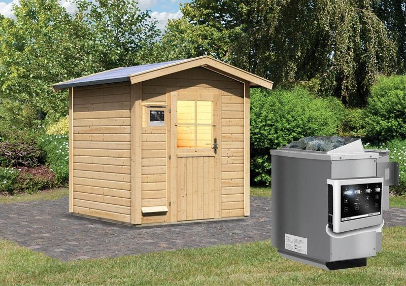 Karibu Gartensauna Lasse  inkl. Ofen 9 kW Bio-Kombi ext. Steuerung