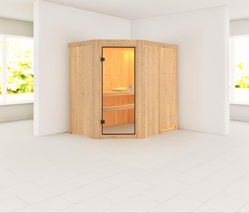 Karibu System Sauna Carin Classic (Eckeinstieg) 68 mm