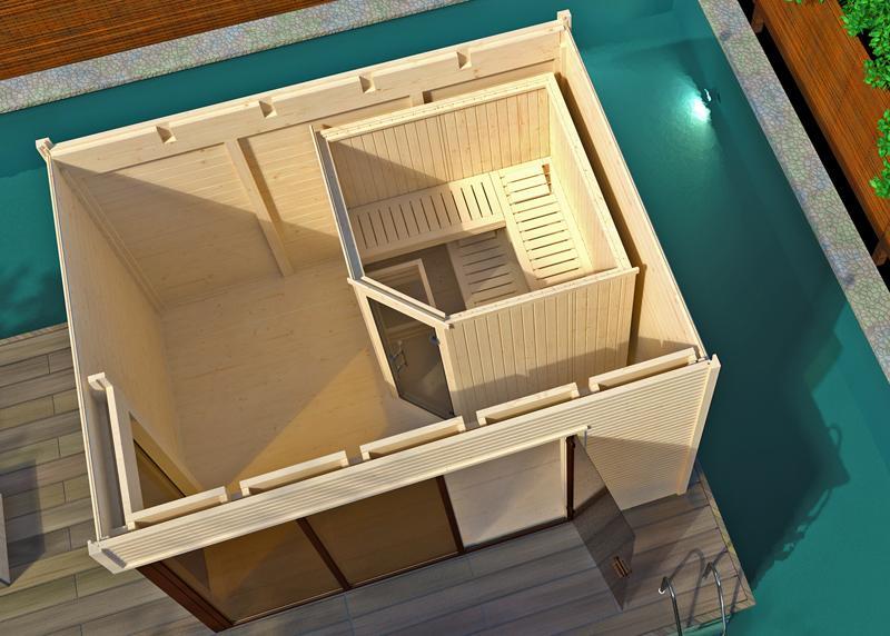 WEKA Gartensauna Design-Saunahaus 45 mm CUBILIS