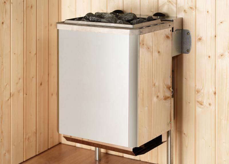 WEKA Heimsauna Massivholzsauna TURKU 1 Glastüre Sparset Biokombi-Ofen-Set