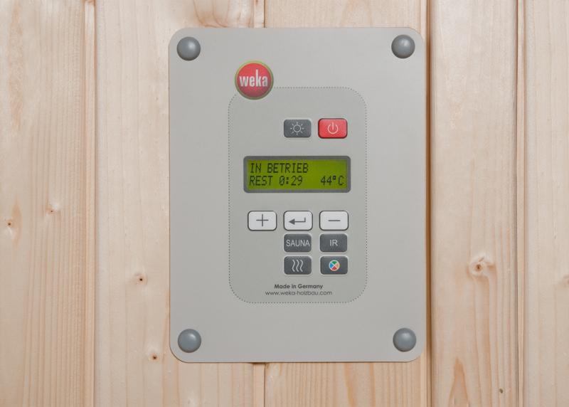 WEKA Sauna Zubehör digitale Systemsteuerung Biokombi-Ofen-Set