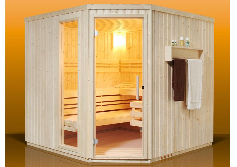 infraworld sauna auf ma aurora fichtenholz 75 mm elementbau von l nge 117 253 cm breite 117. Black Bedroom Furniture Sets. Home Design Ideas