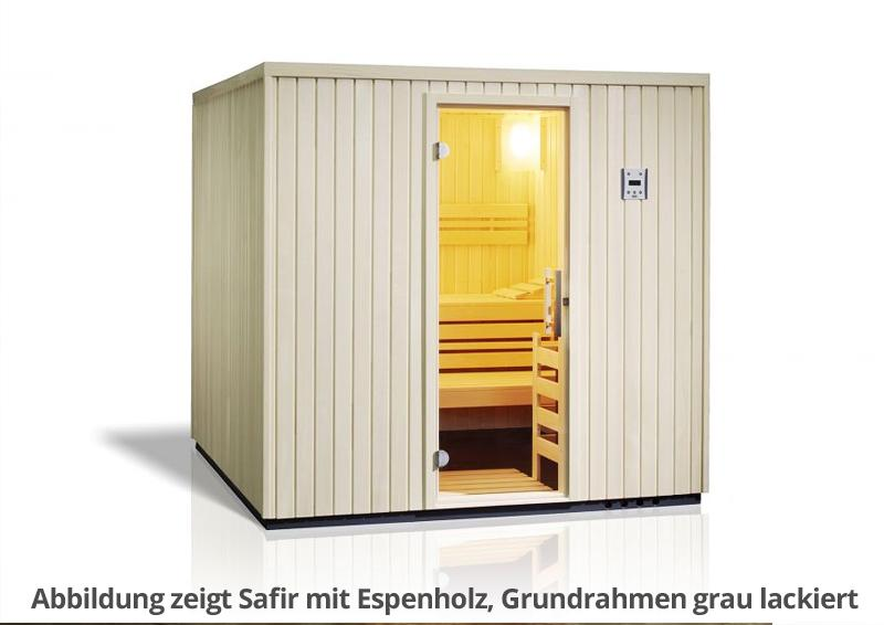infraworld sauna auf ma safir fichtenholz 75 mm elementbau von l nge 127 239 cm breite 144. Black Bedroom Furniture Sets. Home Design Ideas