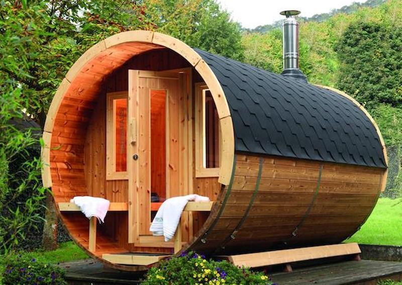 wolff finnhaus saunafass 400 de luxe vormontiert. Black Bedroom Furniture Sets. Home Design Ideas
