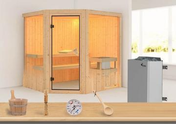 Sonderangebot: Karibu System Sauna Aktionsset 3 inkl. Ofen 9 kW  mit int. Steuerung