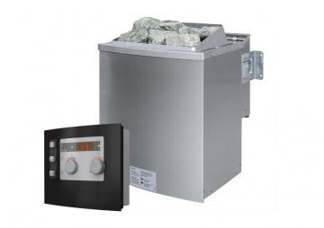 Karibu Bio-Kombiofen 9 kW - inkl. ext. Steuerung Modern (Kabel A und D notwendig)