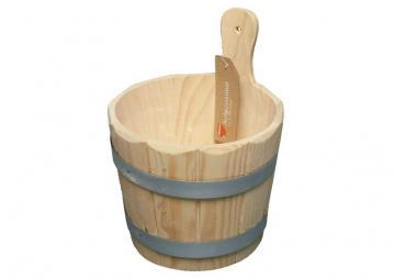 Sauna Kübel für Aufguss 5 Liter - Holzkübel inkl. Nässeschutz