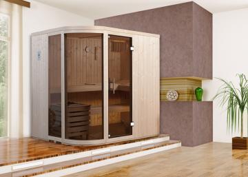 WEKA Heimsauna Design-Sauna SARA 1 - 7,5 kW Ofenset - Sparset