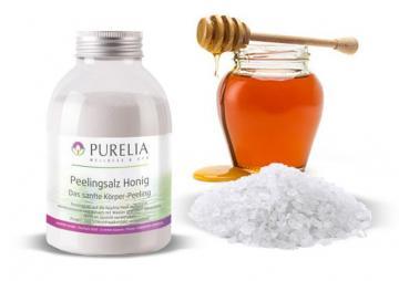 Purelia Salzpeeling Sauna Peeling 600 g Honig