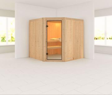 Karibu System Sauna Jarin Classic (Eckeinstieg) 68 mm ohne Zubehör