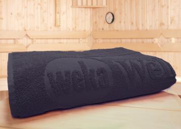 WEKA Sauna Zubehör Spezial-Saunahandtuch Anthrazit