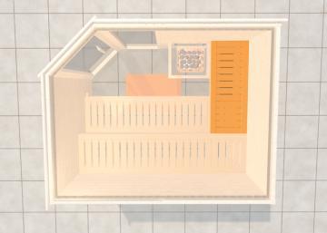 WEKA Sauna Zubehör Querliege für Saunatiefe 177/181 cm