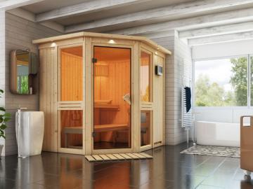 Heimsauna mit Glas - Sauna mit Glasfront kaufen - hier mehr erfahren >