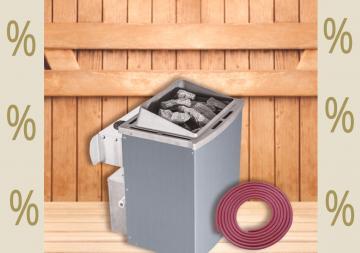 Karibu Aktions Saunaofen 9 kW finnisch mit integrierter Steuerung inkl. Silikonkabel Set und Saunasteinen 18 kg