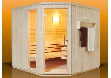 Infraworld Sauna auf Maß Aurora Fichtenholz 75 mm Elementbau von  Länge 117 - 253 cm Breite 117 - 269 cm