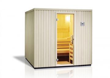 Infraworld Sauna auf Maß Safir Fichtenholz 75 mm Elementbau von Länge 127 - 239 cm Breite 144 - 239 cm