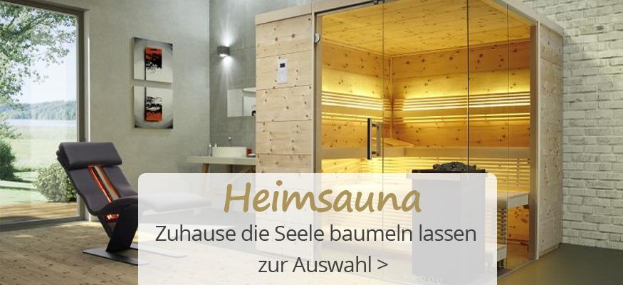 Sauna kaufen: moderne Heimsauna, Gartensauna, Infrarotkabine beim Profi!