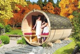 Karibu Gartensauna Fass-Sauna
