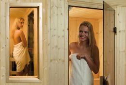 Sauna Fenster und Türen