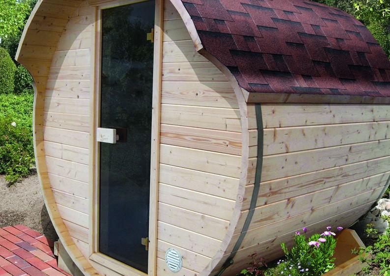 karibu gartensauna fass sauna 1 inkl ofen 9 kw bio kombi ext steuerung. Black Bedroom Furniture Sets. Home Design Ideas