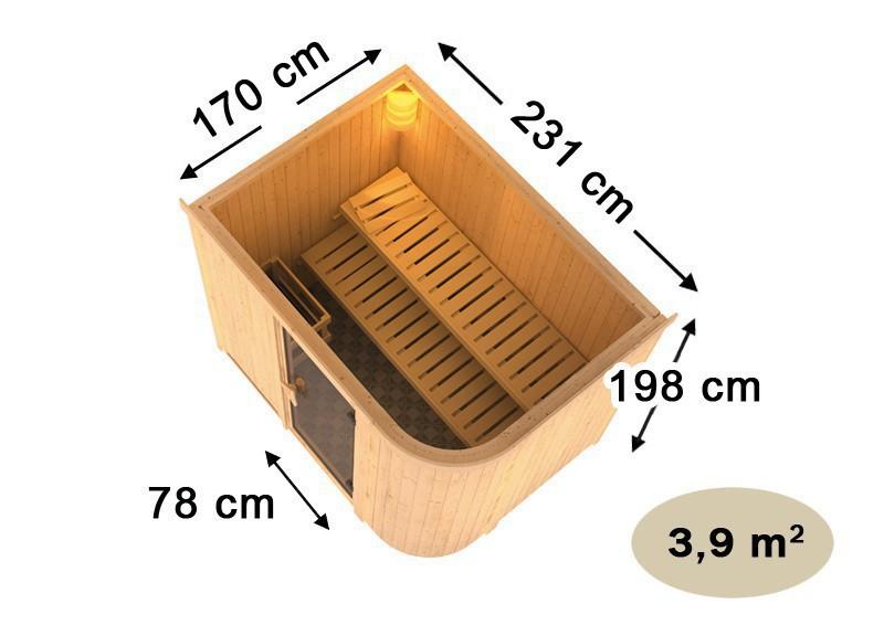 karibu system sauna titania 4 fronteinstieg 68 mm inkl ofen 9 kw bio kombi ext steuerung. Black Bedroom Furniture Sets. Home Design Ideas