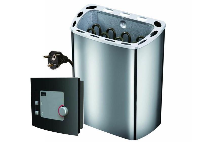karibu system sauna 230 volt lilja eckeinstieg 68 mm mit dachkranz inkl ofen 3 6 kw ext. Black Bedroom Furniture Sets. Home Design Ideas